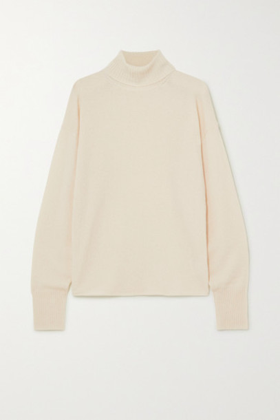 Reformation - Cashmere And Wool-blend Turtleneck Sweater - Ivory
