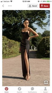 dress,black dress,slit dress,satin,silk,backless,maxi dress,long dress,formal dress