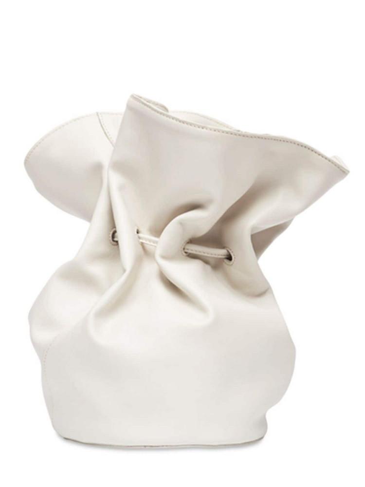 LITTLE LIFFNER Soft Leather Shoulder Bag in cream