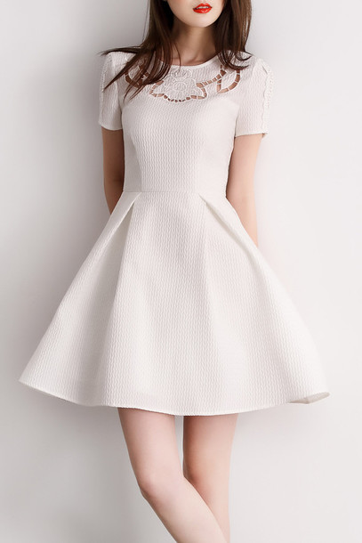 dress white summer fashion trendy white dress girly classy dezzal