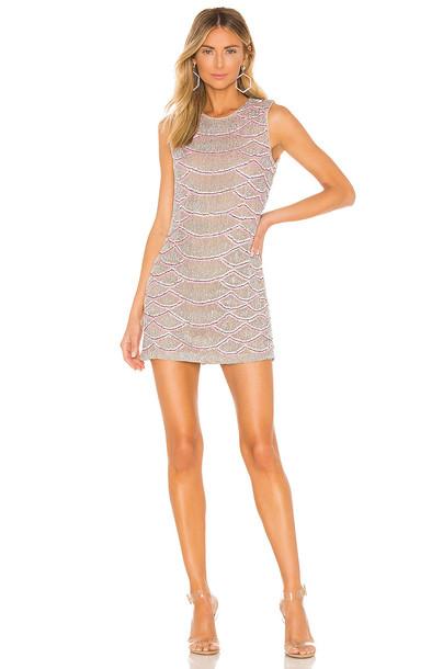 X by NBD Monty Embellished Python Mini Dress in pink