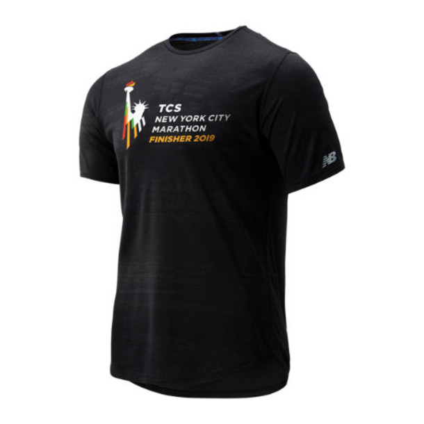 New Balance 93250 Men's NYC Marathon Q Speed Breathe Short Sleeve - Black (MT93250MBK)