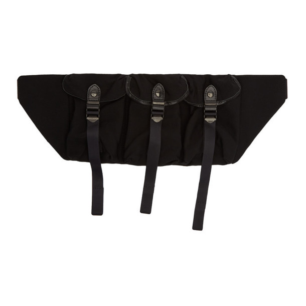 Ys Black Triple Compartment Bag
