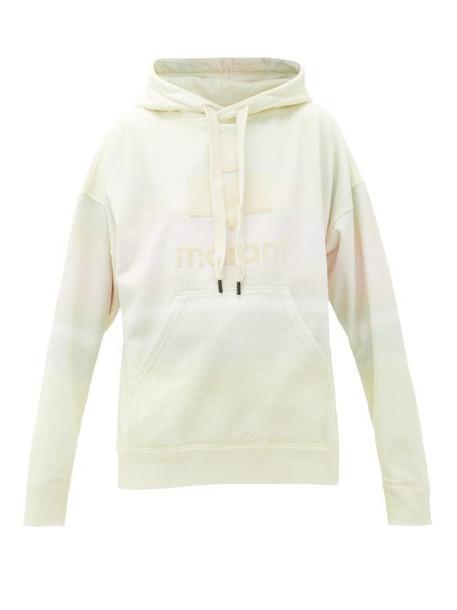 Isabel Marant Étoile - Mansel Logo Tie-dye Cotton-blend Hooded Sweatshirt - Womens - Cream Multi