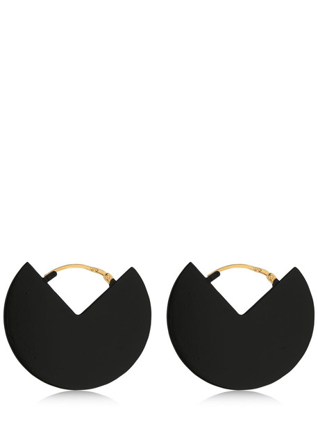 ISABEL MARANT 90 Degrees Two Tone Earrings in black / gold