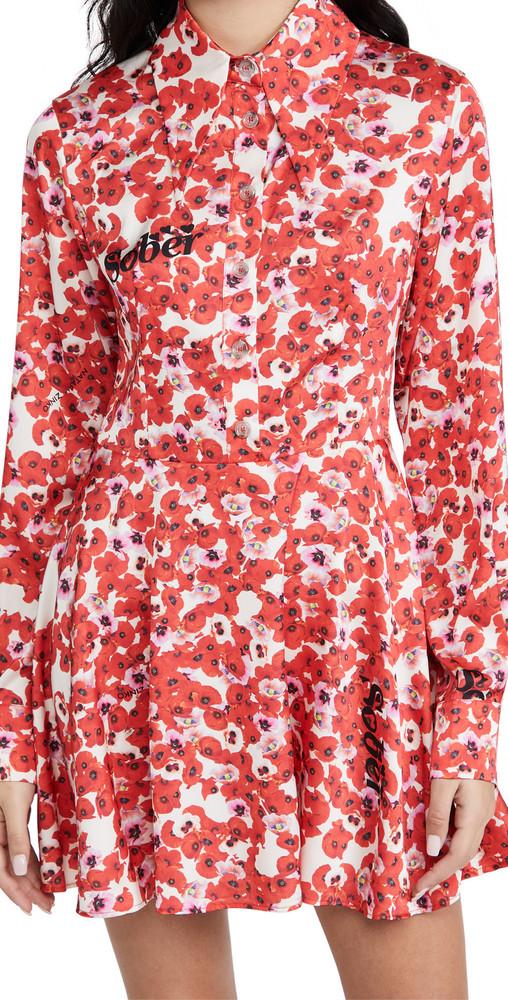 Natasha Zinko Long Sleeve Dress in red