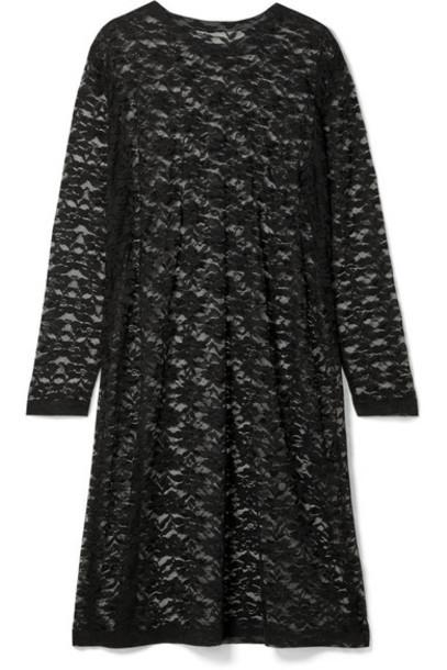Norma Kamali - Stretch-lace Dress - Black