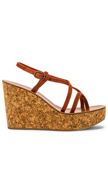 K Jacques Hera Wedge Sandal in Brown