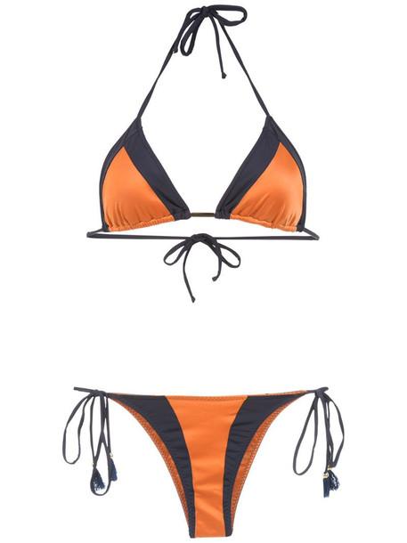 Brigitte color block bikini set in yellow