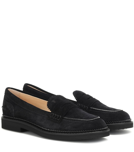 Tod's Suede Penny loafers in black