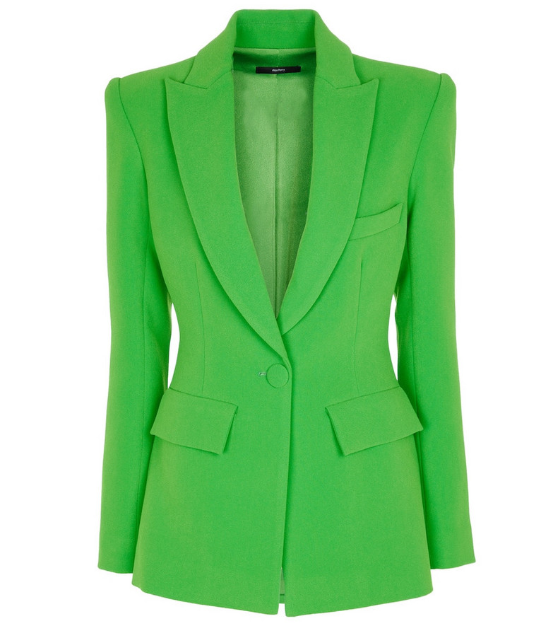 Alex Perry Carter stretch-crêpe blazer in green
