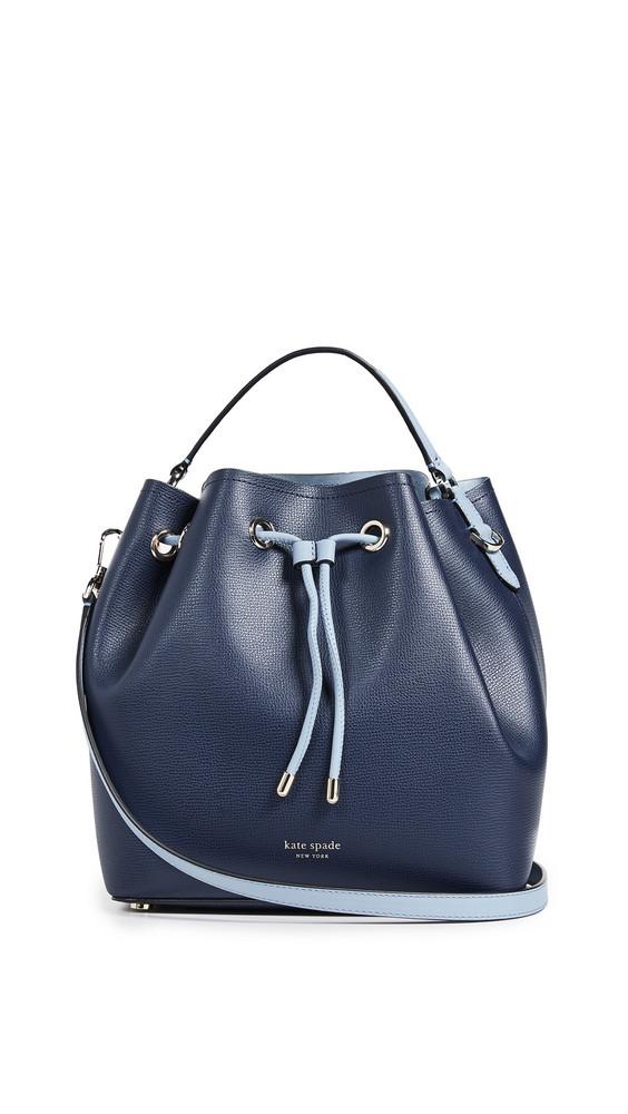 Kate Spade New York Vivian Medium Bucket Bag in blue