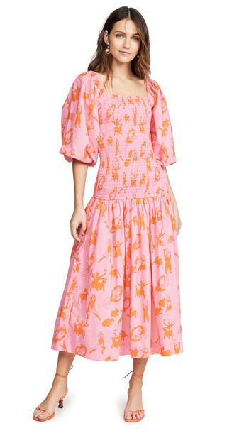 Rhode Harper Dress in orange / pink