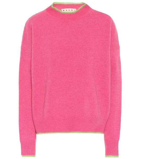 Marni Wool and mohair-blend sweater in pink