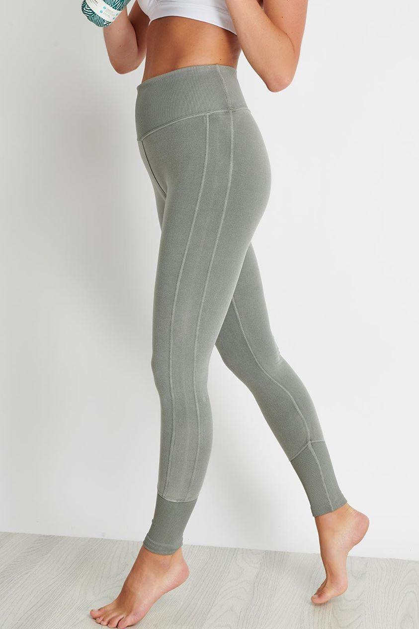 Alo Yoga High-Waist Alo Sueded Lounge Legging - Lead Wash - S Multicolour UK S Multicolour