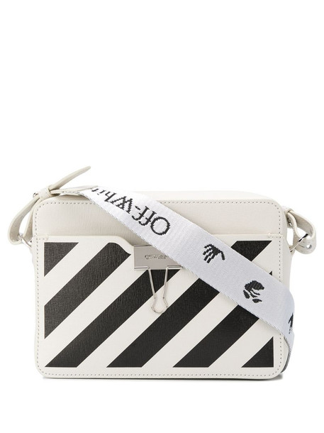 Off-White small diagonal camera bag in white