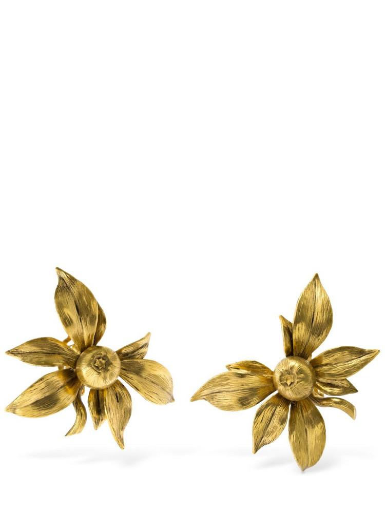 SAINT LAURENT Fruit Clip-on Earrings in gold