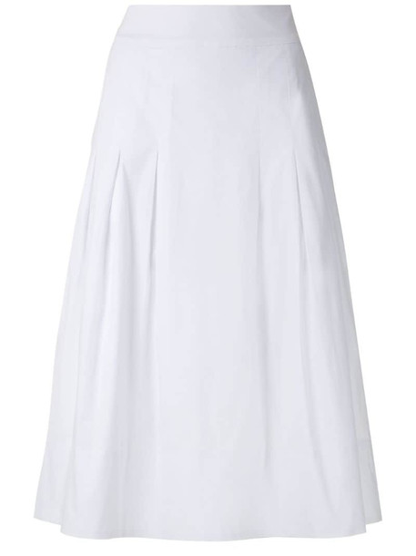Olympiah Viorne midi skirt in white