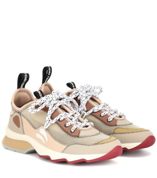 Fendi Mesh sneakers in beige