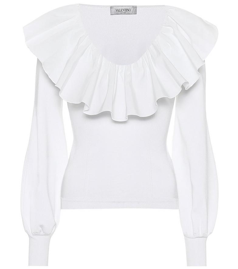 Valentino Ruffled shirt in white