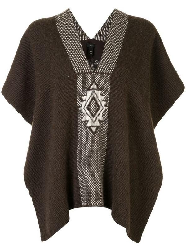 VOZ Manta Estrella knitted top in brown