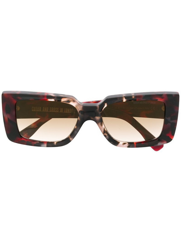 Cutler & Gross marble effect sunglasses in red