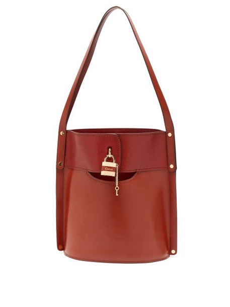 Chloé Chloé - Aby Leather Bucket Bag - Womens - Dark Brown