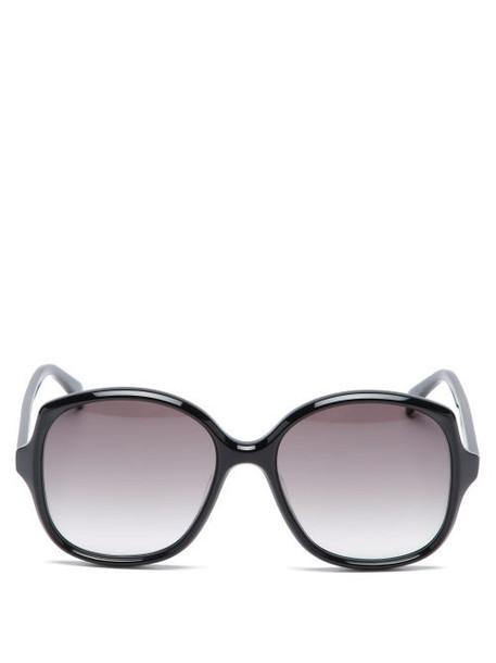 Celine Eyewear - Oversized Round Acetate Sunglasses - Womens - Black
