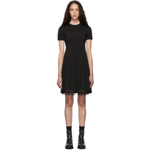 RED Valentino Black Pleated Dress