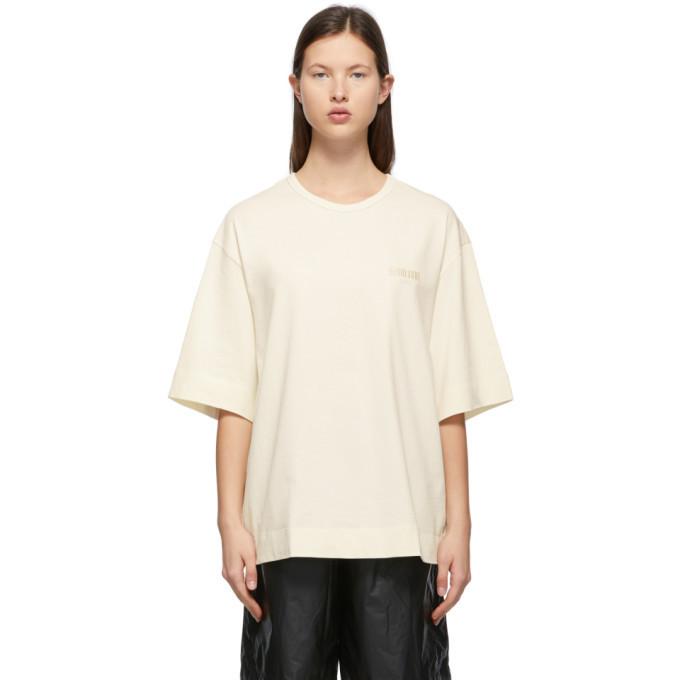 Juun.J Off-White SeoulSoul T-Shirt in ivory
