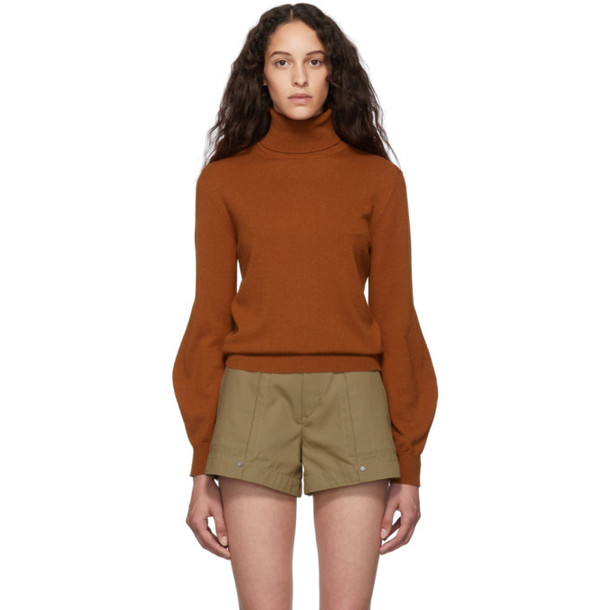 Chloe Brown Cashmere Iconic Turtleneck