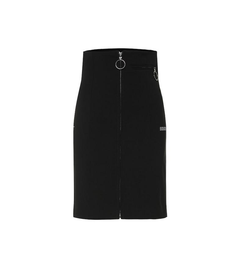 Off-White High-waisted skirt in black