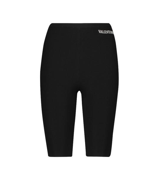 Valentino Stretch-knit leggings in black