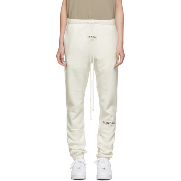 Essentials White Reflective Lounge Pants
