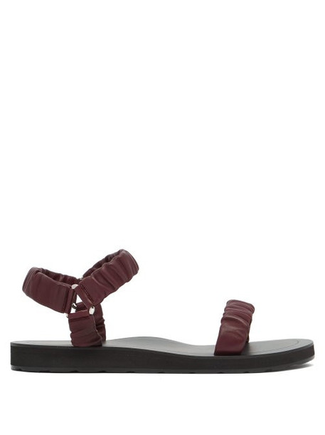The Row - Egon Leather Sandals - Womens - Burgundy
