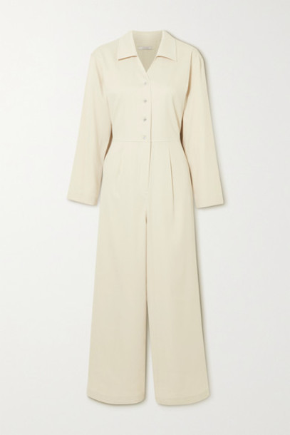 LE 17 SEPTEMBRE - Pleated Crepe Jumpsuit - Off-white