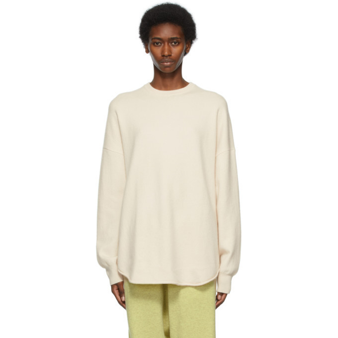 extreme cashmere Off-White N°53 Crew Hop Sweater in cream