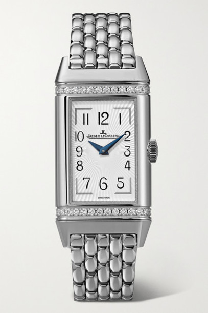 Jaeger-LeCoultre - Reverso One Duetto 20mm Stainless Steel Diamond Watch - Silver