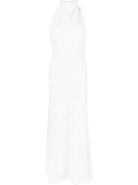 Ellery textured sequin dress in white