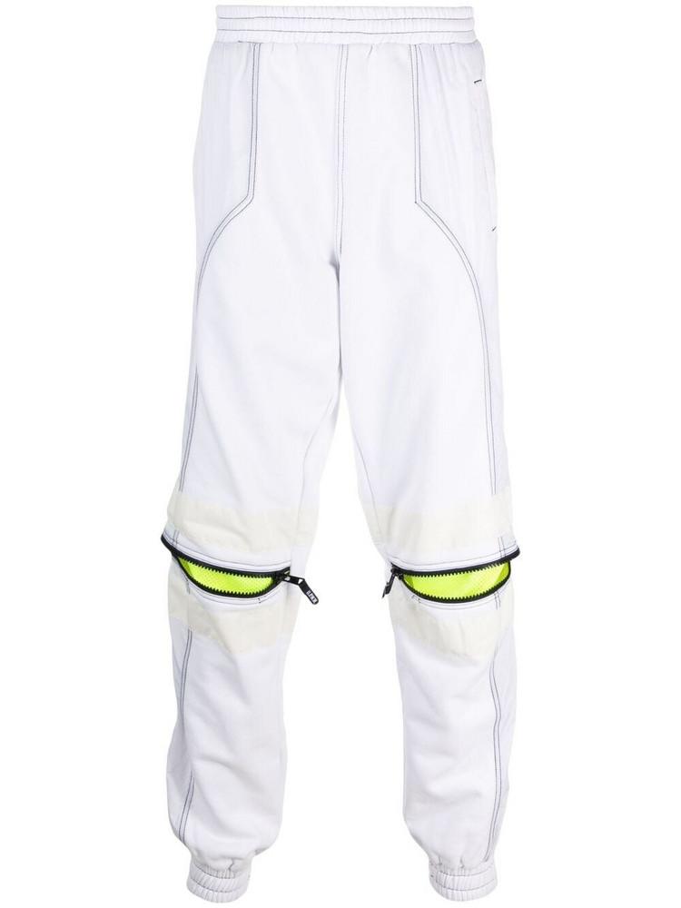 U.P.W.W. U.P.W.W. knee-zip track pants - White