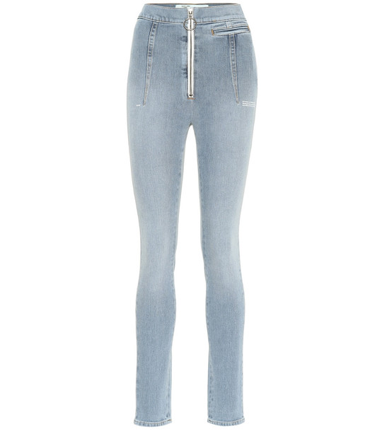 Off-White High-rise skinny jeans in blue