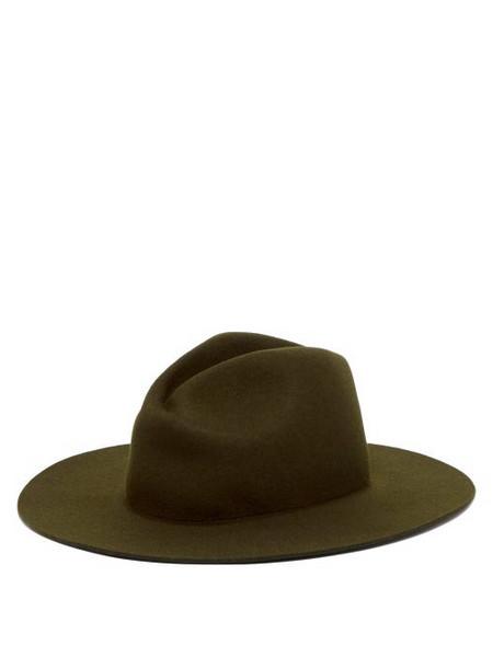 A.P.C. A.p.c. - Janet Wide Brim Felt Hat - Womens - Khaki