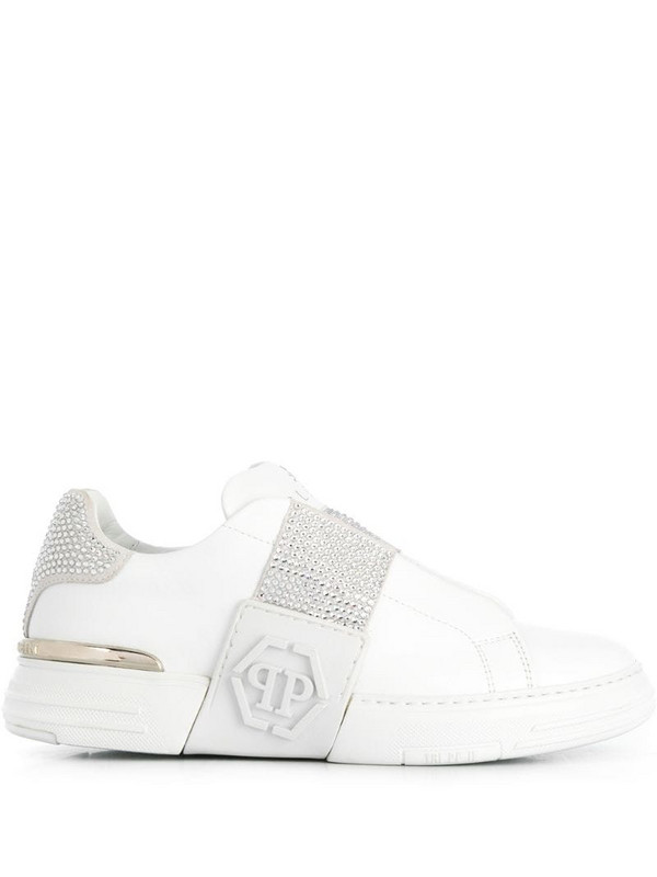 Philipp Plein Phantom Kick$ Lo-Top sneakers in white