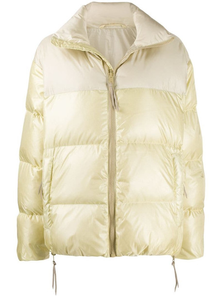 Tanaka zipped puffer jacket in neutrals