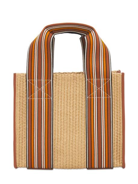 LORO PIANA The Suitcase Woven Mini Tote Bag in natural