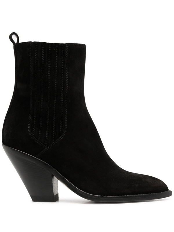 Buttero Jane tapered heel boots in black