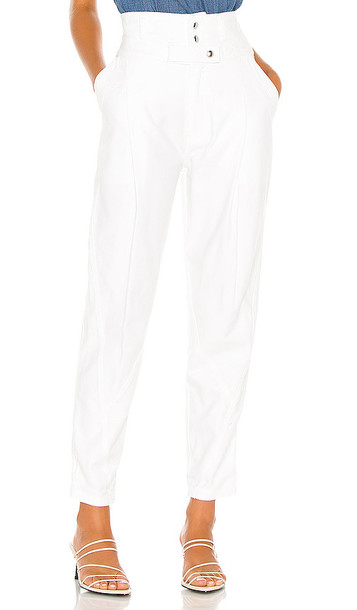 FRAME Twisted Trouser in White