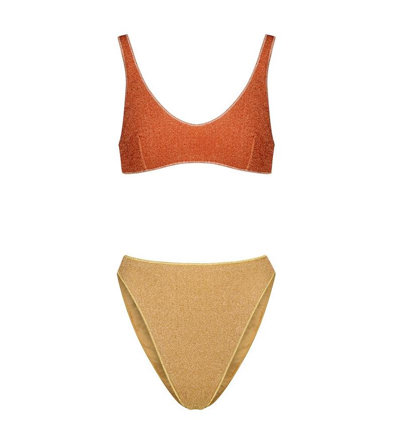 Oséree Exclusive to Mytheresa – Lumière '90s bikini in orange