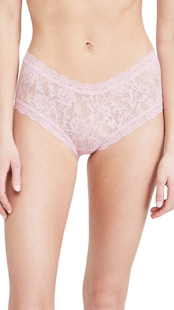 Hanky Panky Signature Lace Boy Shorts in rose
