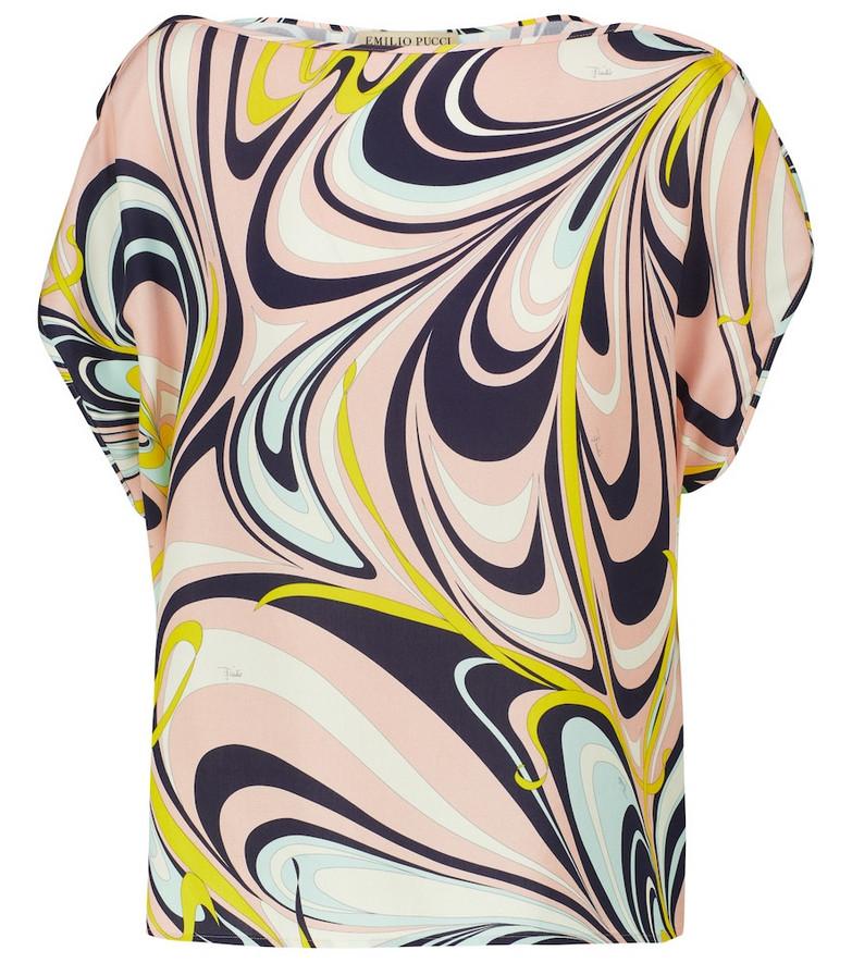 Emilio Pucci Beach Printed boatneck top